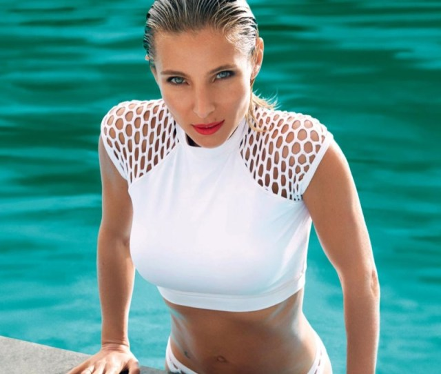 Elsa Pataky Wears A White Hot Swimsuit Look In Womens Health
