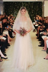 A look from Carolina Herrera's spring-summer 2016 bridal collection