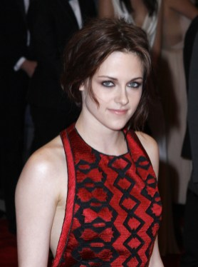 Kristen Stewart with a romantic updo at the 2011 Met Gala