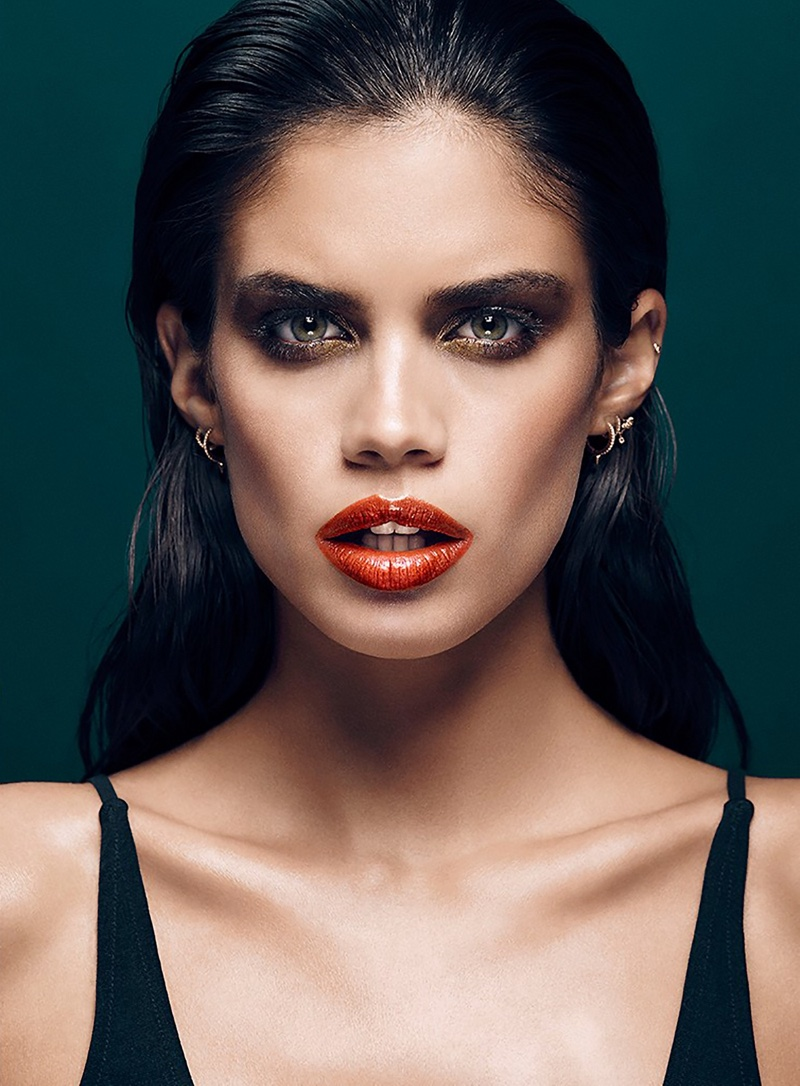 Sara Sampaio Flaunts Colorful Lips For Stella Beauty Shoot