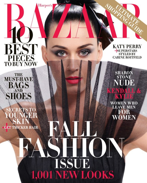 Katy Perry for Harper's Bazaar September 2015 Cover Photos