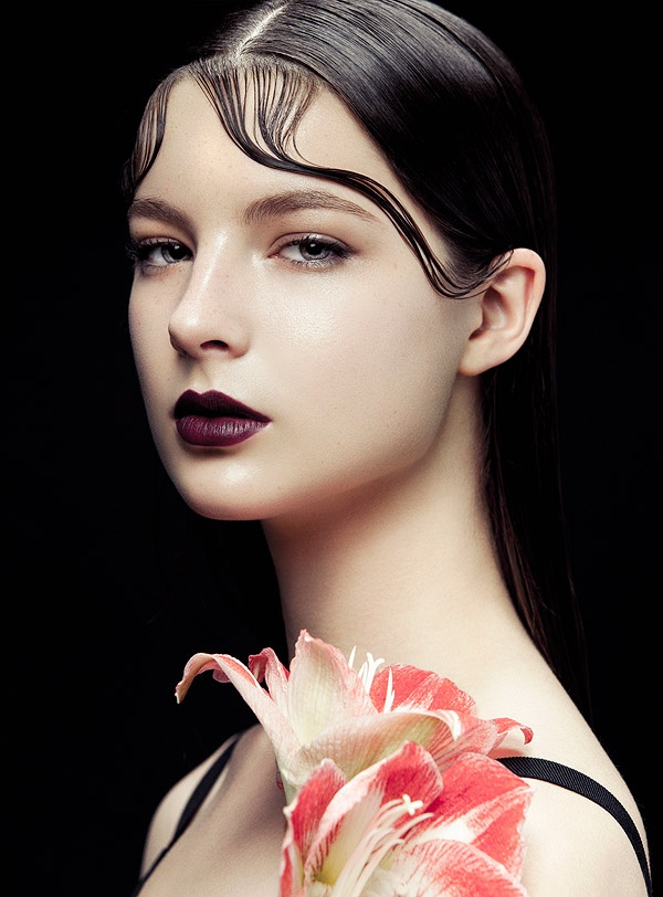 Flowers Amp Kiss Curls Zhang Jingna Shoots BAZAAR Vietnam