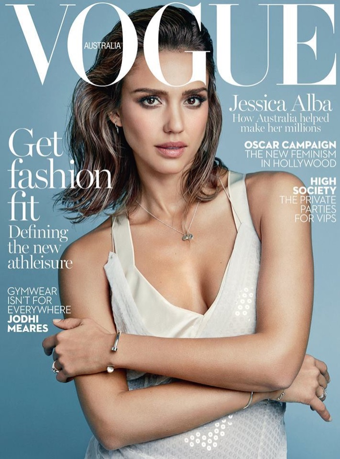 Jessica Alba on Vogue Australia February 2016 cover