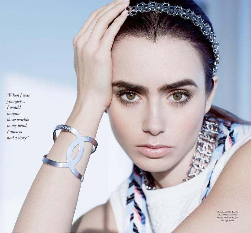 Lily Collins Harpers Bazaar Australia March 2016 Photoshoot