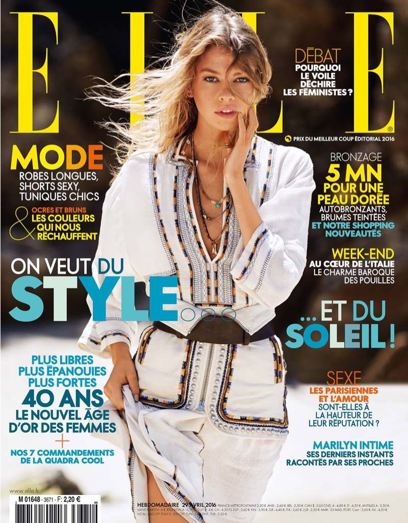 Stella Maxwell on ELLE France April 2016 Cover