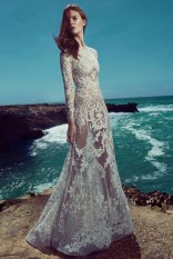 Zuhair Murad Bridal's spring 2017 collection features sheer long sleeve gown with lace embellishment