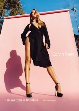 Anna Ewers for Calvin Klein Fall/Winter 2016 Campaign