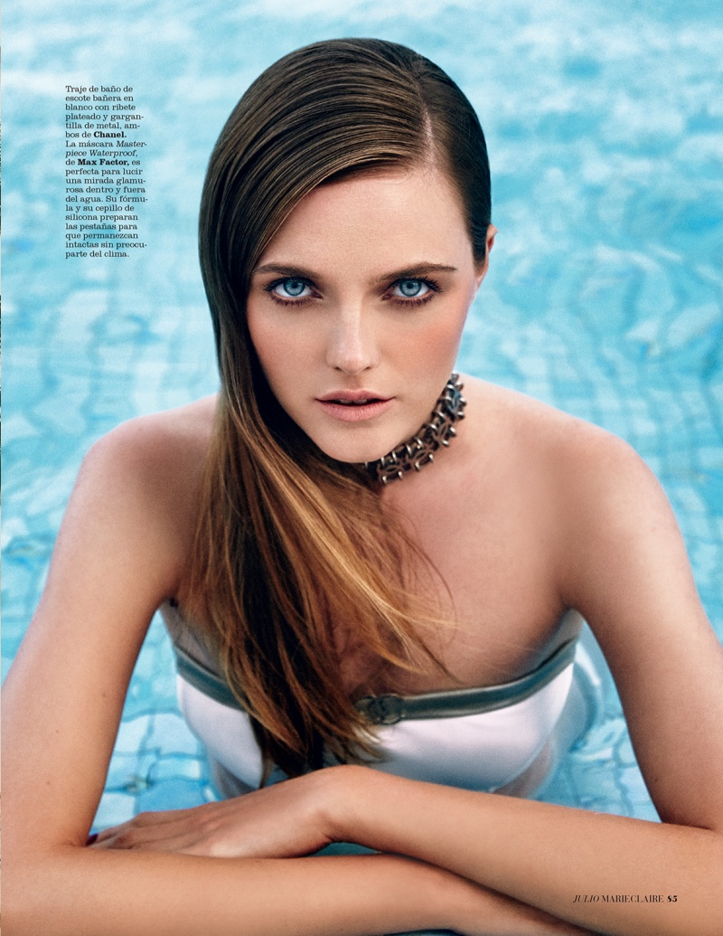Vlada Roslyakova Delivers Poolside Glamour In Marie Claire