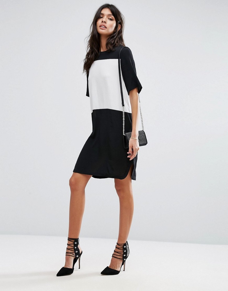 Sport a graphic color-blocked style with Mango's contrast t-shirt dress