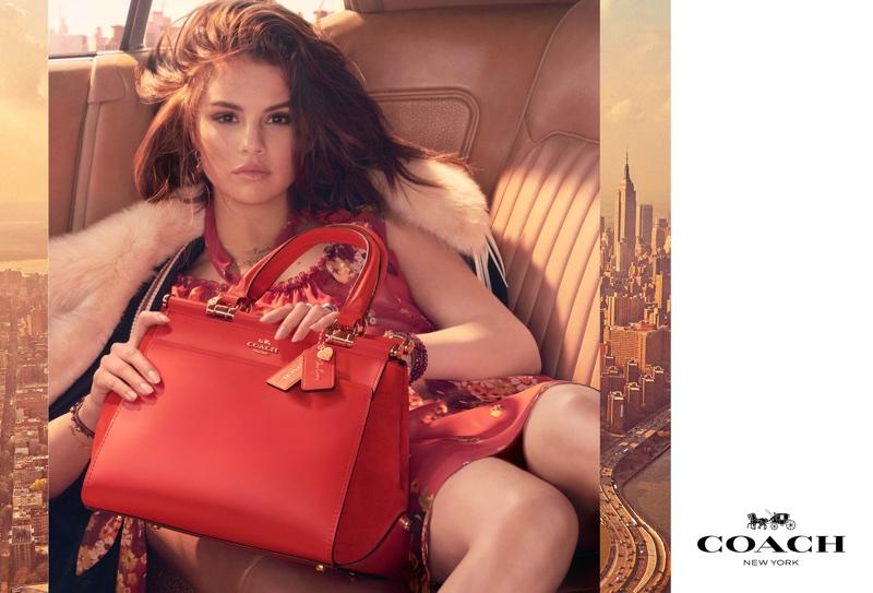 Selena Gomez stars in 'Selena Grace' Coach bag campaign. Photo: Steven Meisel