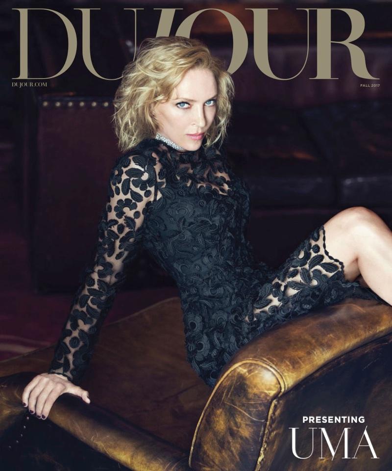 Uma Thurman on DuJour Magazine Fall 2017 Cover