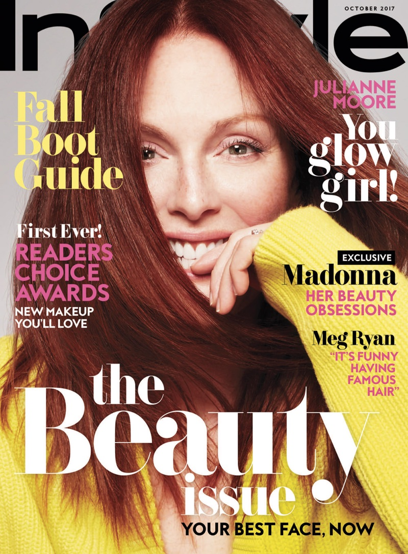 Julianne Moore on InStyle Magazine October 2017 Cover