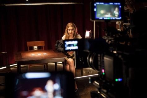 Gigi Hadid x Stuart Weitzman behind-the-scenes at EYELOVEMORE video