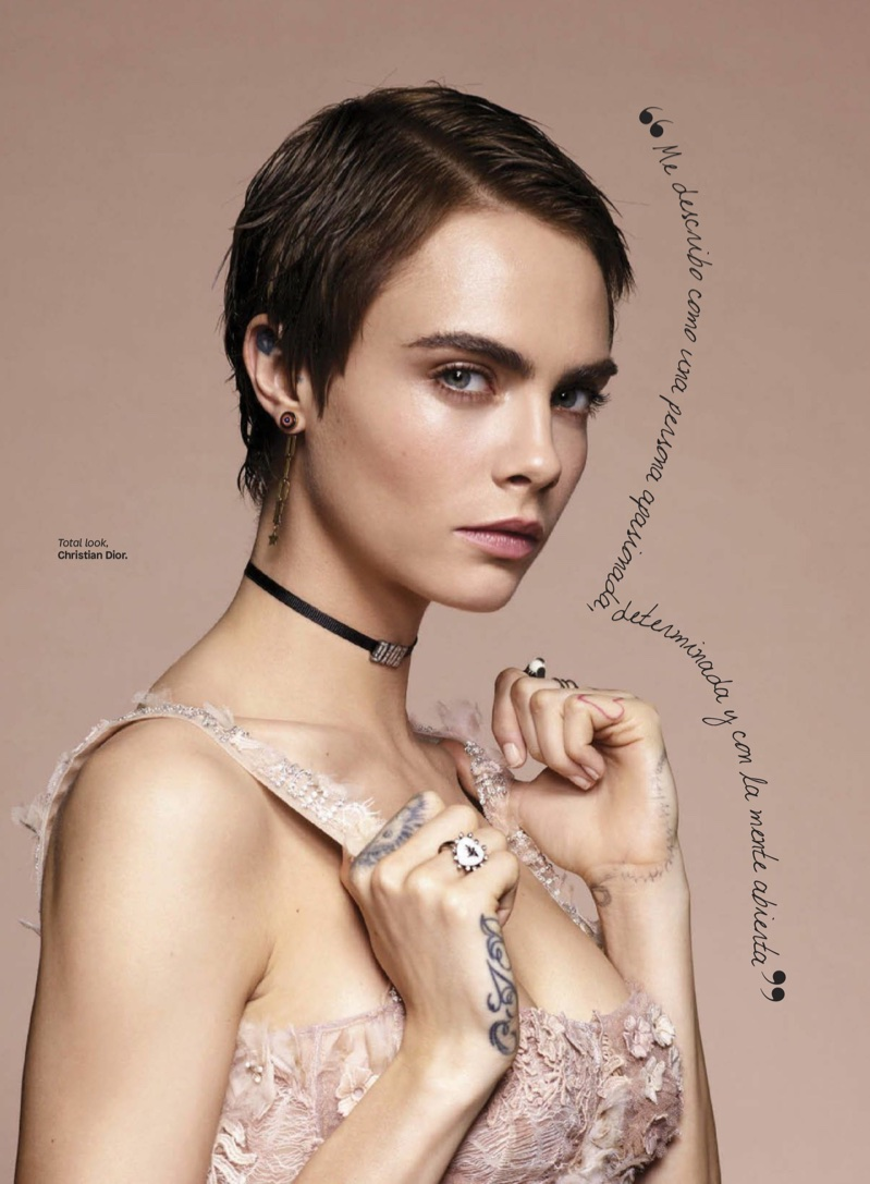 Cara Delevingne Dior Fashion Shoot Glamour Mexico Cover