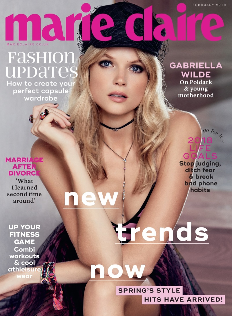 Gabriella Wilde on Marie Claire UK February 2018 Cover