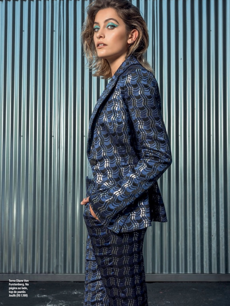Suiting up, Paris Jackson wears Diane Von Furstenberg pantsuit