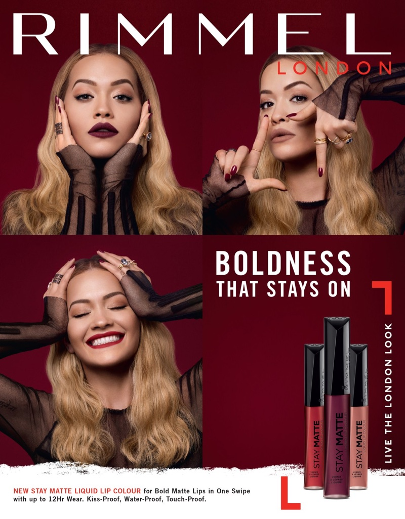 Rita Ora stars in Rimmel London's Stay Matte Liquid Lipstick campaign