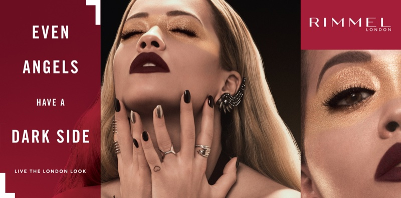 Rita Ora looks glam in Rimmel London's Stay Matte Liquid Lipstick campaign