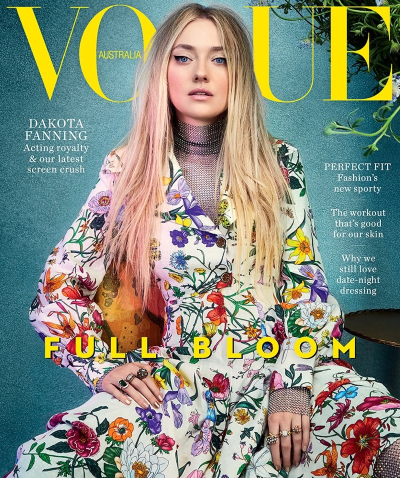 Dakota Fanning on Vogue Australia February 2018 Cover