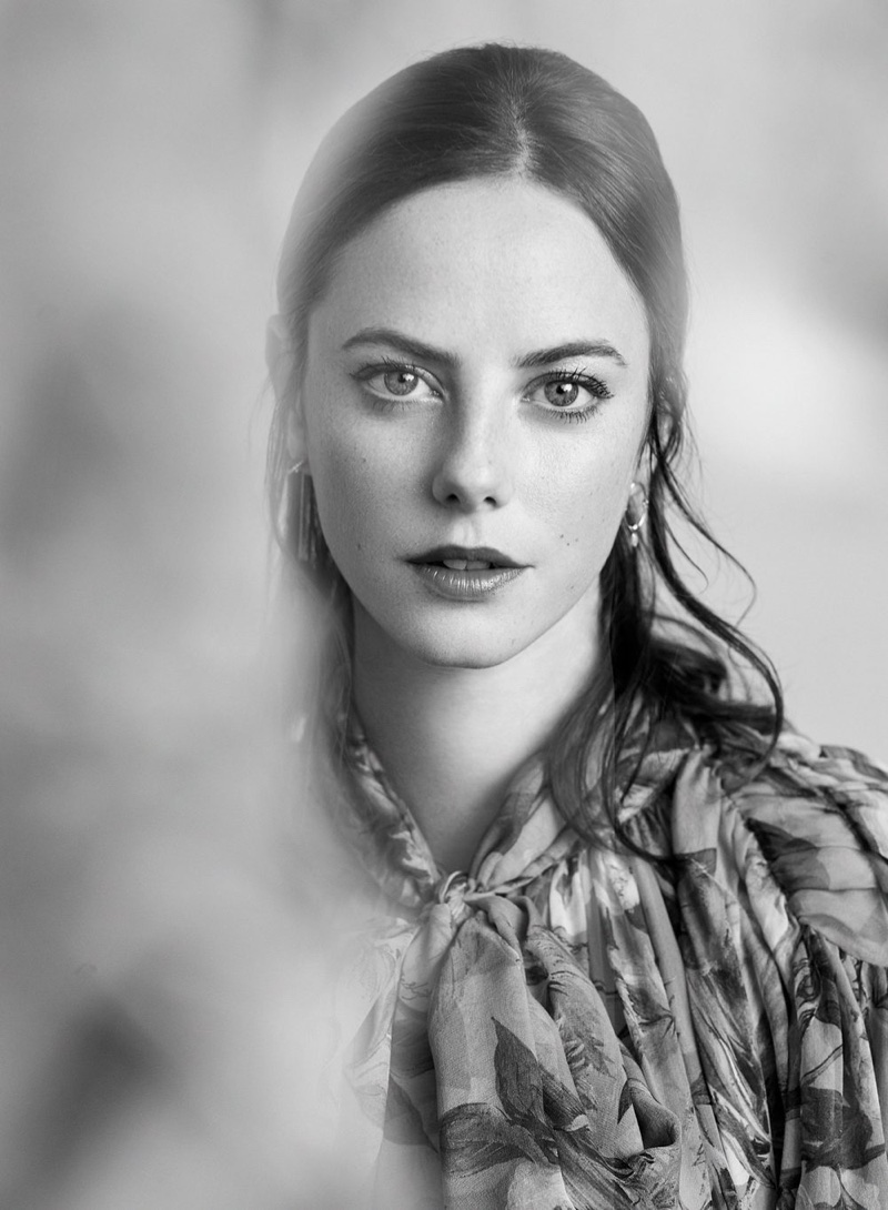 Photographed in black and white, Kaya Scodelario looks ready for her closeup