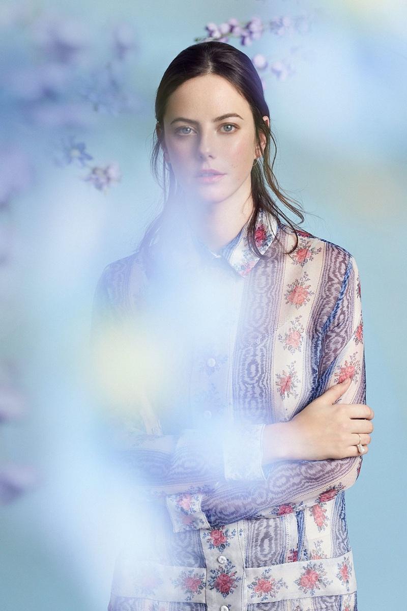 Kaya Scodelario wears floral print look