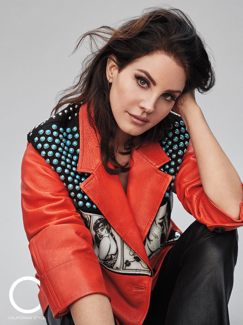 Lana Del Rey wears Prada jacket and SPRWMN pants