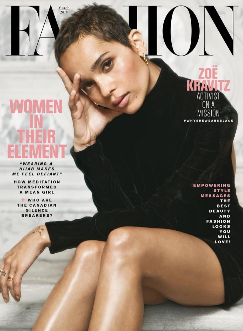 Zoe Kravitz on FASHION Magazine March 2018 Cover