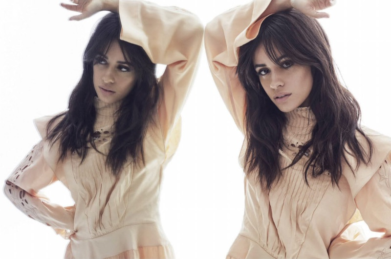 Singer Camila Cabello poses in Chloe blouse