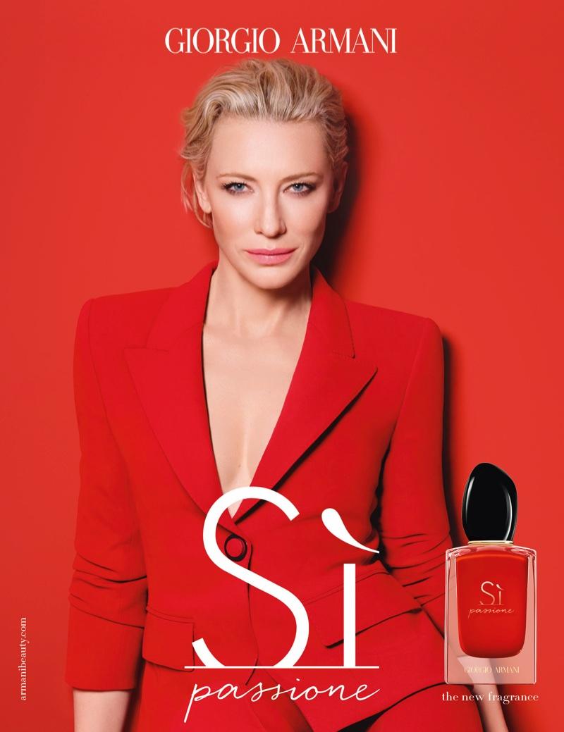 Cate Blanchett stars in Giorgio Armani Sì Passione fragrance campaign