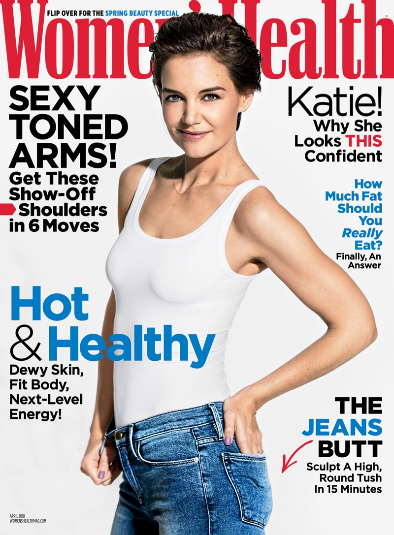 Katie Holmes on Women's Health April 2018 Cover