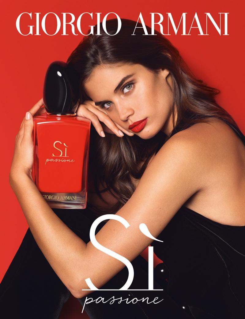 Sara Sampaio appears in Giorgio Armani Sì Passione fragrance campaign