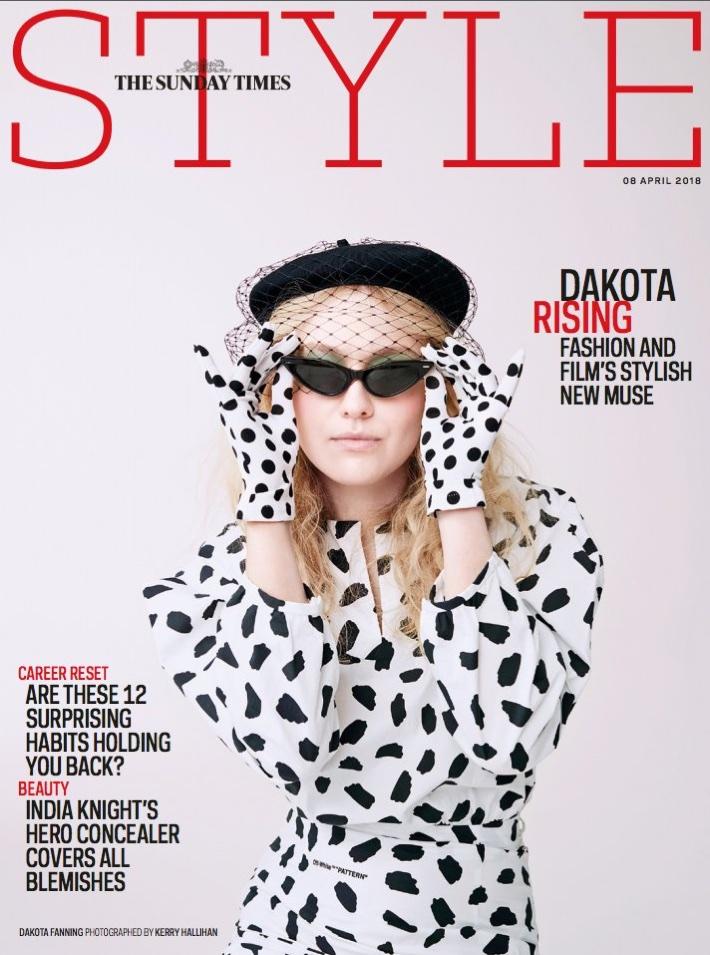 Dakota Fanning on Sunday Times Style April 8, 2018 Cover