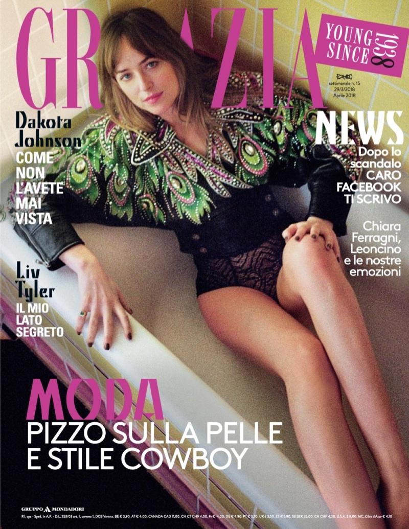 Dakota Johnson on Grazia Italy March 29, 2018 Cover