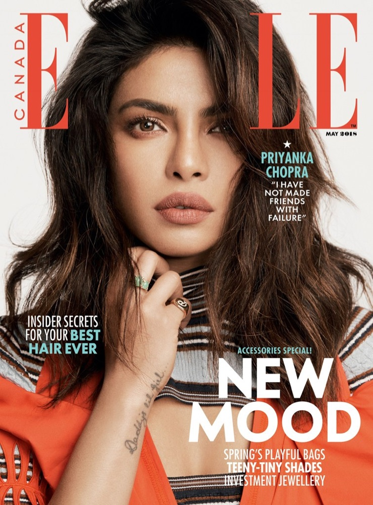 Priyanka Chopra on ELLE Canada May 2018 Cover
