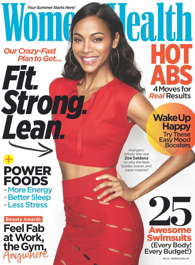 Zoe Saldana on Women's Health June 2018 Cover