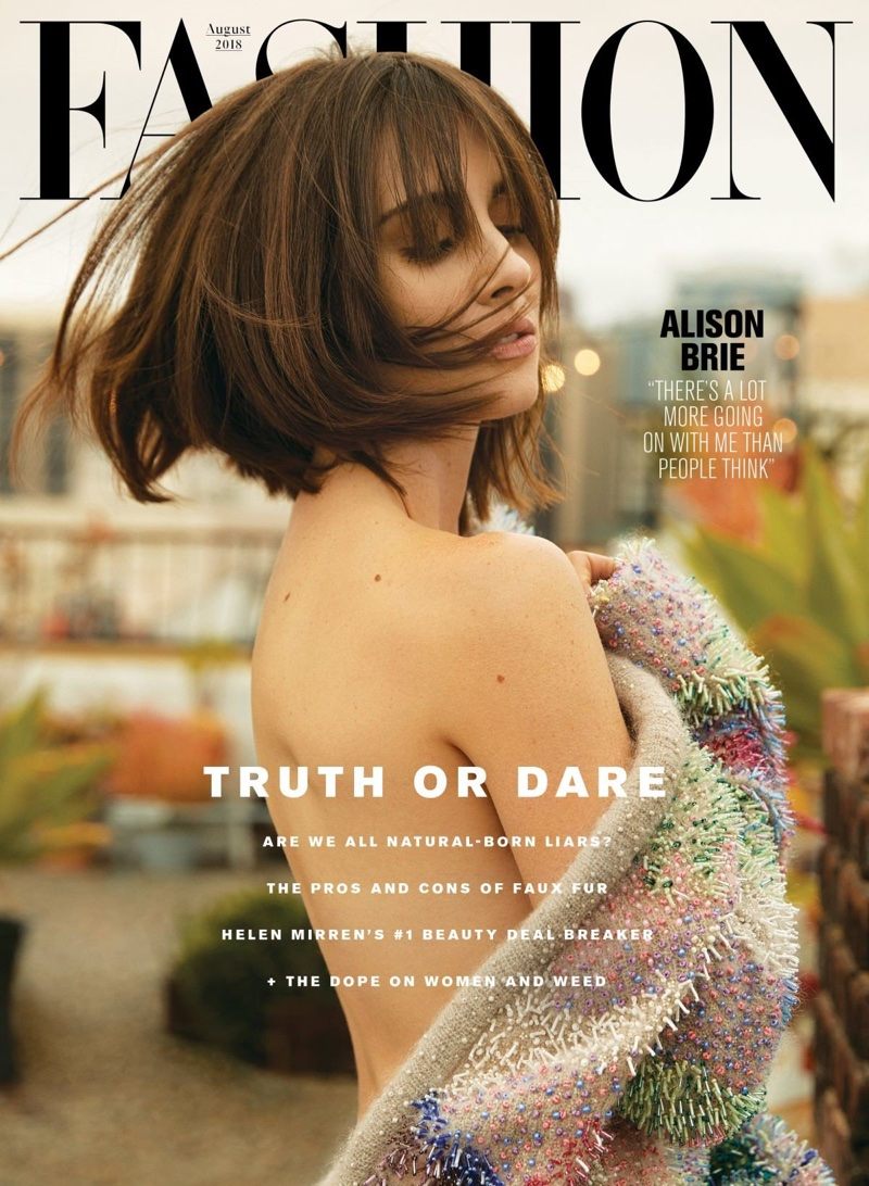 Alison Brie on FASHION Magazine August 2018 Cover