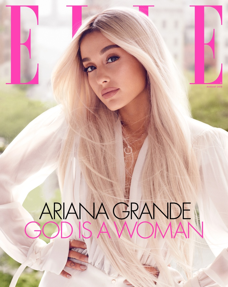 Ariana Grande on ELLE US August 2018 Cover