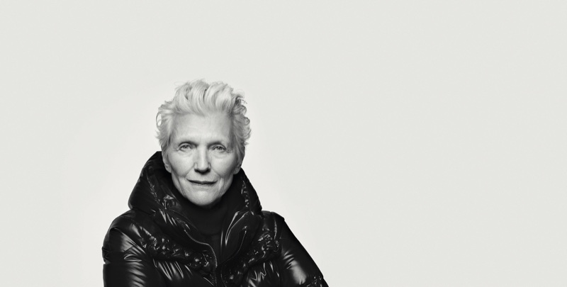Model Maye Musk in Moncler BEYOND campaign