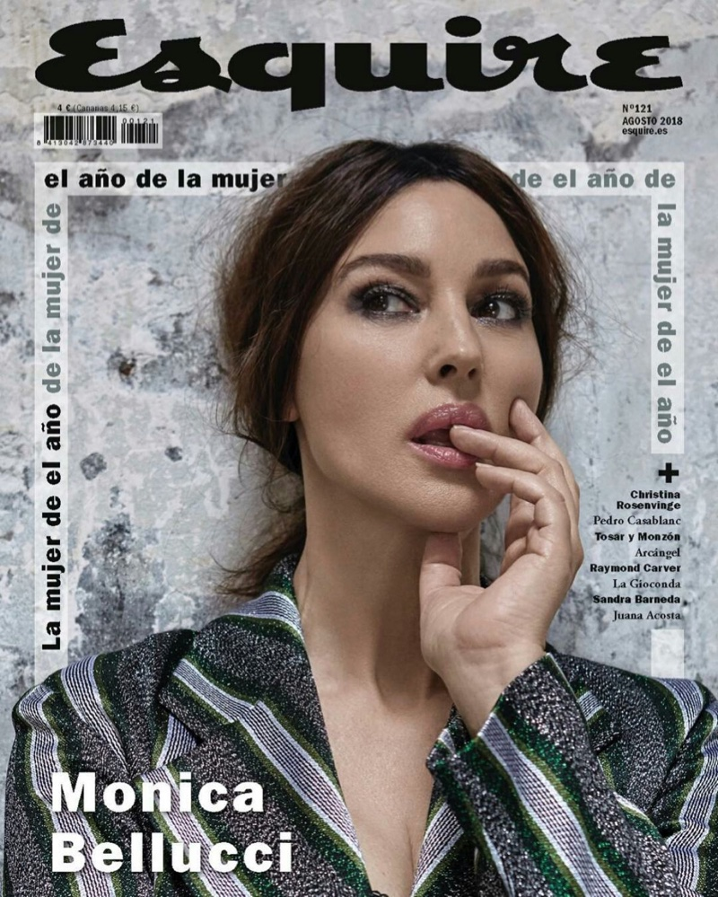 Monica Bellucci on Esquire Spain August 2018 Cover