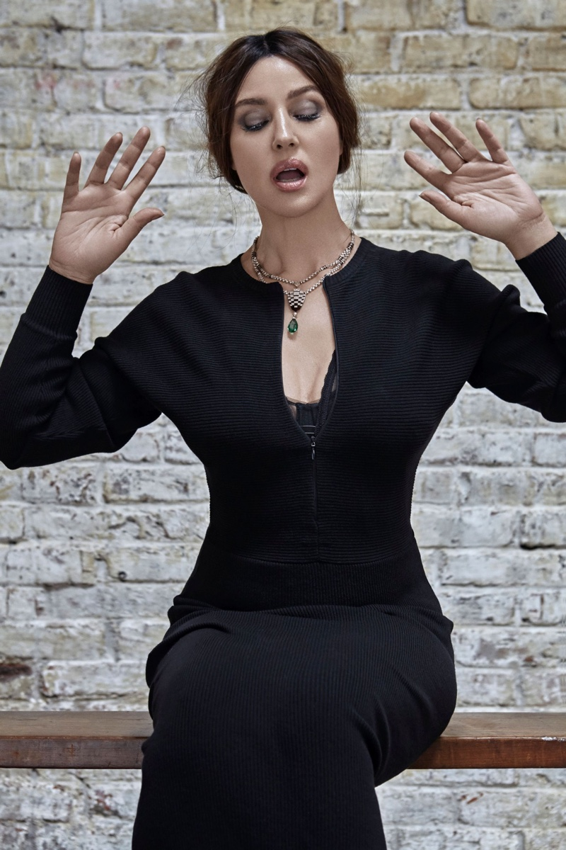 Monica Bellucci Poses in Body Conscious Styles for Esquire Spain