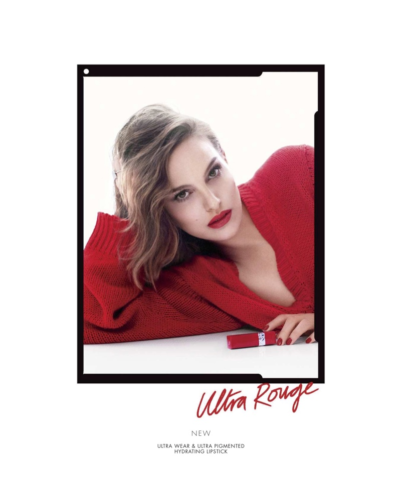 Actress Natalie Portman fronts Dior Rouge Ultra Rouge Lipstick campaign