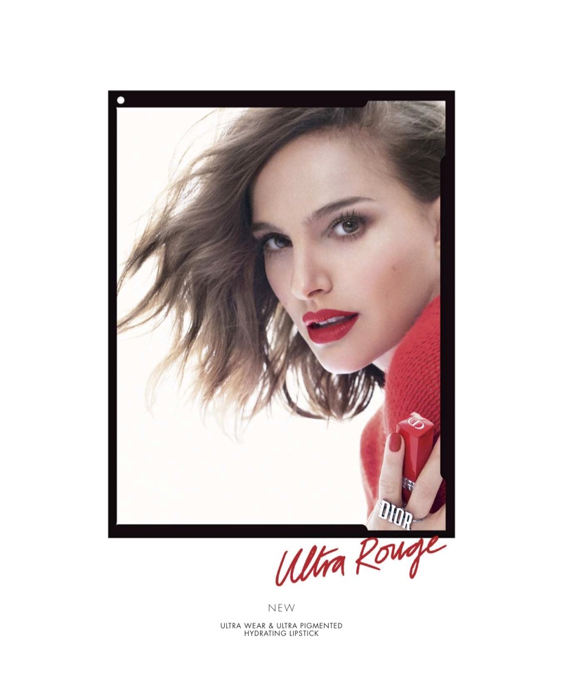 Dior taps Natalie Portman for Dior Rouge Dior Ultra Rouge Lipstick campaign