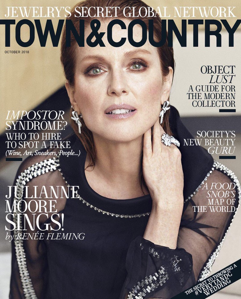 Julianne Moore on Town & Country Magazine October 2018 Cover
