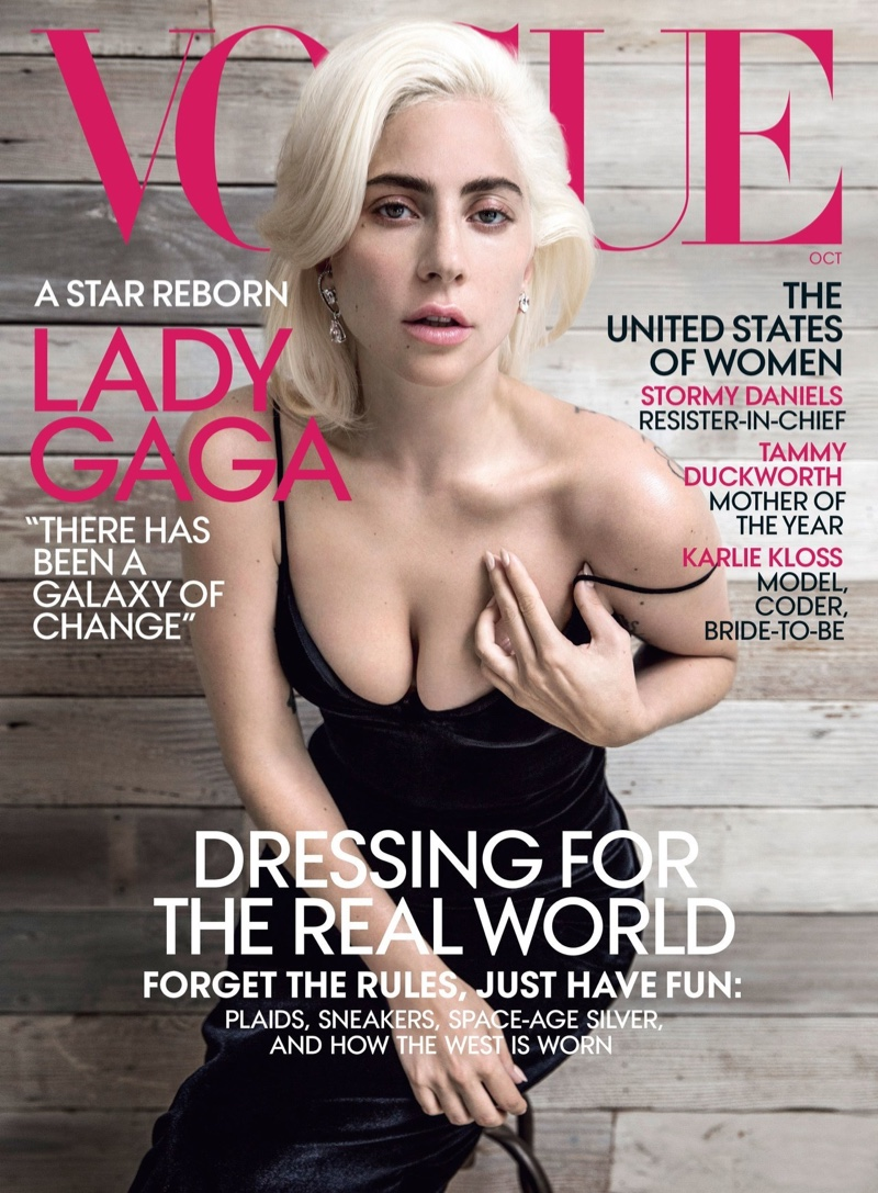 Lady Gaga on Vogue US October 2018 Cover