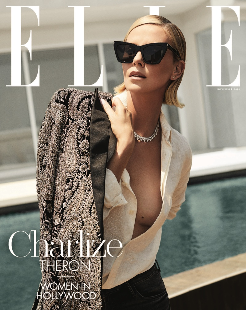 Charlize Theron on ELLE US November 2018 Cover