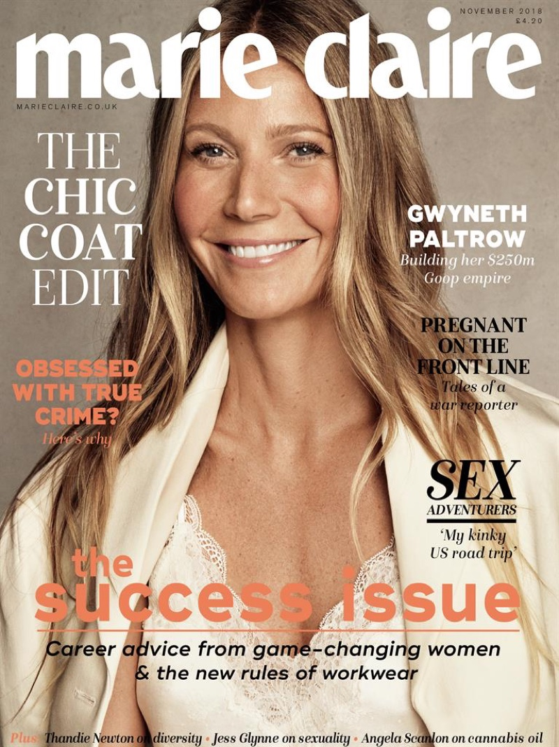 Gwyneth Paltrow on Marie Claire UK November 2018 Cover