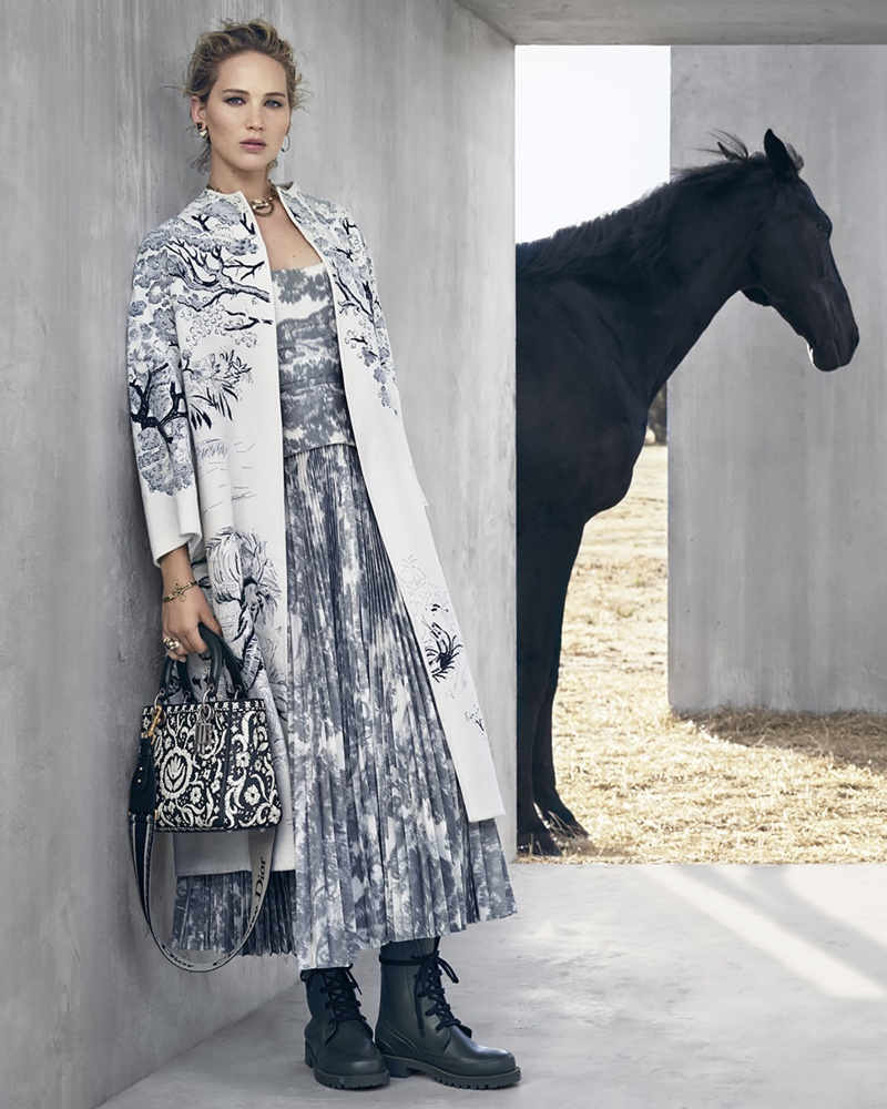 Jennifer Lawrence takes on equestrian style for Dior cruise 2019 campaign