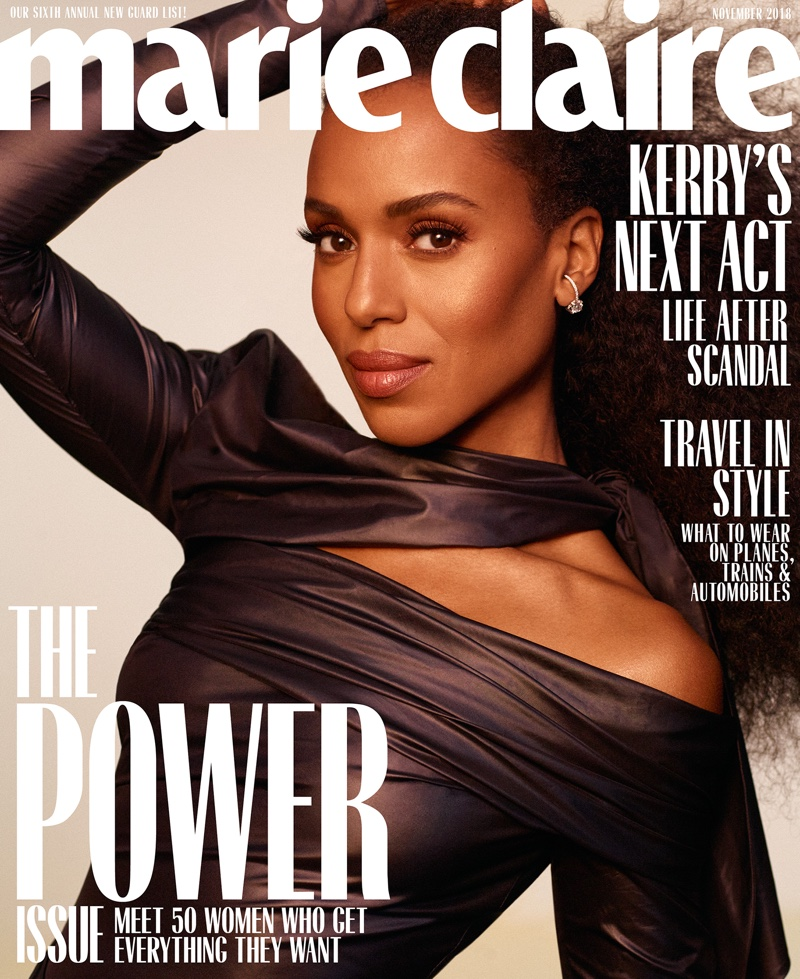 Kerry Washington on Marie Claire US October 2018 Cover