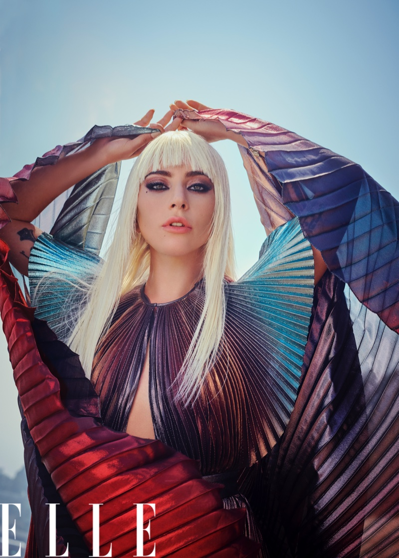 Ready for her closeup, Lady Gaga wears Givenchy dress