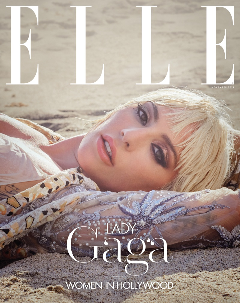 Lady Gaga on ELLE US November 2018 Cover